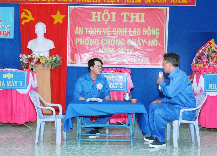Hội thi An toàn vệ sinh lao động